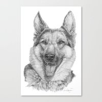 german Canvas Prints featuring German shephard by Doggyshop