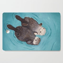 Otterly Romantic - Otters Holding Hands Cutting Board