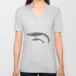 Fin whale Unisex V-Neck