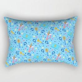 Sailor Mercury Pattern / Sailor Moon Rectangular Pillow