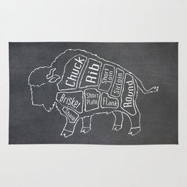 Buffalo Butcher Diagram (Meat Chart) Rug