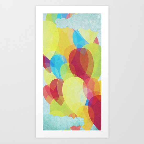 Happy Sky Art Print