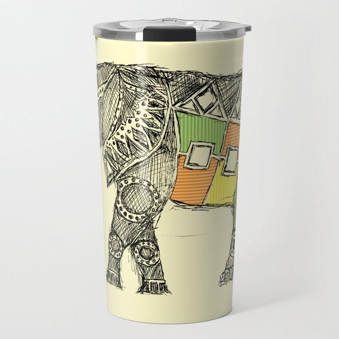 African Elephant Sketch Travel Mug By