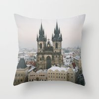 prague Throw Pillows featuring Prague by BriAnneWills