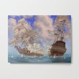 Sea Battle Metal Print