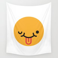 Emojis: Crazy face Wall Tapestry
