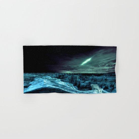 galaxy mountains teal Hand & Bath Towel