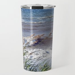 Waves Rolling up the Beach Travel Mug