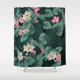 Floral Jungle leaves Shower Curtain