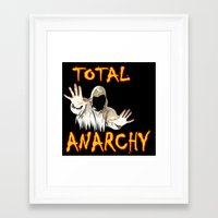 anarchy Framed Art Prints featuring ANARCHY  by Robleedesigns