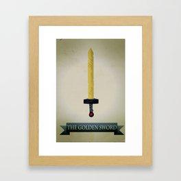 Golden Sword Framed Art Print