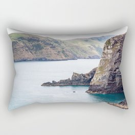 Cliff Face, Akaroa, New Zealand Rectangular Pillow