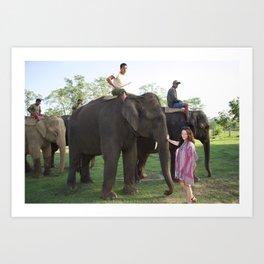 The Elephants and Me Art Print