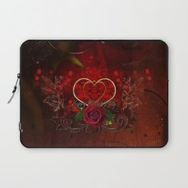 Happy mother's day with heart and roses Laptop Sleeve
