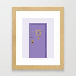 Purple Door - Friends Apartment Framed Art Print