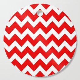 Chevron Red White Cutting Board