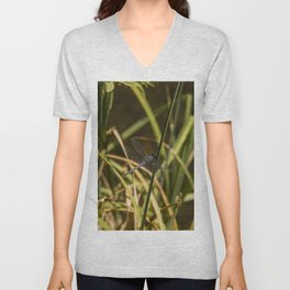Dragonfly in the marsh Unisex V-Neck