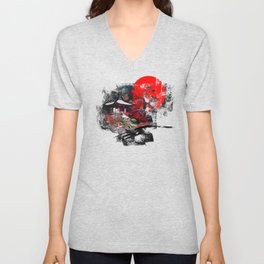 Abstract Kyoto Unisex V-Neck