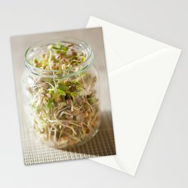 Many cereal sprouts growing Stationery Cards
