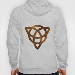 Celtic knot on old paper Hoody