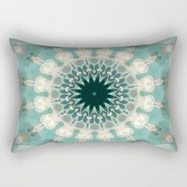 Sea Foam Bohemian Mandala Design Rectangular Pillow