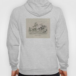 Vintage Funny Fishing Trip Illustration (1882) Hoody