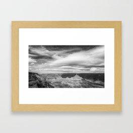Counterbalance bw Framed Art Print