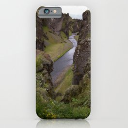 Fjaðrárgljúfur Canyon iPhone Case