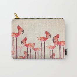 Transmogrified Flamingo Colony Carry-All Pouch