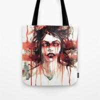 vampire Tote Bags featuring VAMPIRE by AkiMao
