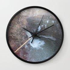 Pink Water Wall Clock