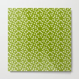 new polka dot 103 green Metal Print