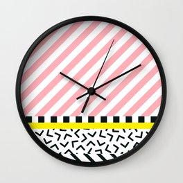 Memphis pattern 84 Wall Clock