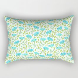 Blue chrysanthemums Rectangular Pillow