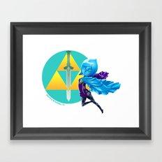 Faih, the Goddess Sword Framed Art Print