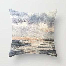 Wednesday Waters Throw Pillow