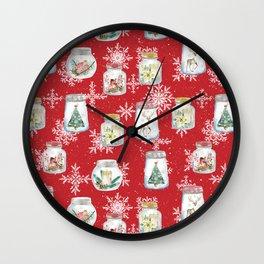 Christmas Jars Wall Clock
