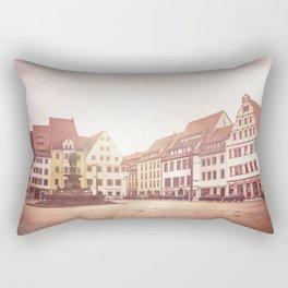 Freiberg, Germany Town Square Rectangular Pillow