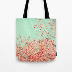 Little dots of red Tote Bag