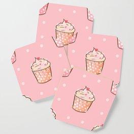 Pink cupcakes pattern Coaster