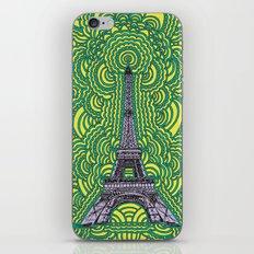 Eiffel Tower Drawing Meditation - purple/yellow/teal iPhone & iPod Skin
