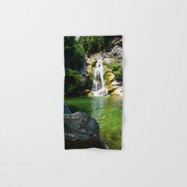 small waterfall in Corsica Hand & Bath Towel