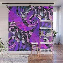 Interdimensional Whirl (purple) Wall Mural