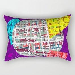 Crisscrossing - geometric Rectangular Pillow