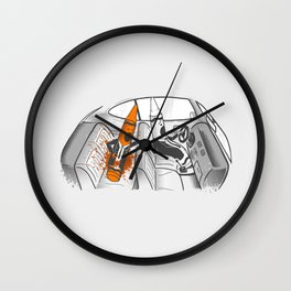 Color-Coded Criminals Wall Clock