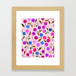 cherry-berrie jumble ... Framed Art Print