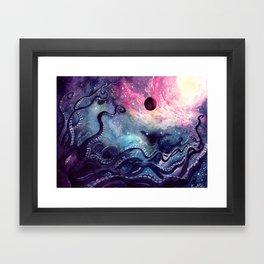 Cosmic Cephalopod Framed Art Print