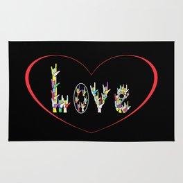 ASL Heart Full of Love Rug