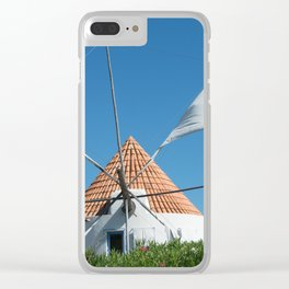 Windmill house, Portugal Clear iPhone Case
