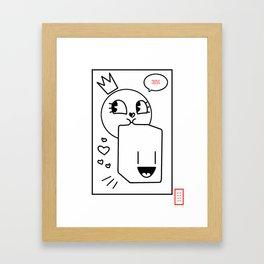 Bubble Is Better Than Love Framed Art Print